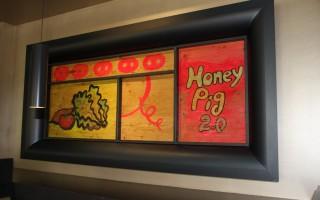 韓式燒烤店「Honey Pig 2.0」內部裝潢。(大紀元)