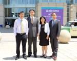 右二为董宇红博士,左一为共同作者黄千峰医师,右二为通讯作者许凯雄教授,右一为共同作者廖玥旭统计师。(董宇红提供)
