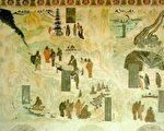 敦煌壁画中的佛图澄神迹图(公有领域)