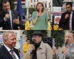 六名欧洲议会议员来到议会前法轮功的反迫害集会现场,直接表达自己的支持。(凌宇/大纪元)