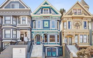 旧金山经典的维多利亚式建筑。(Dawn Kidd提供)