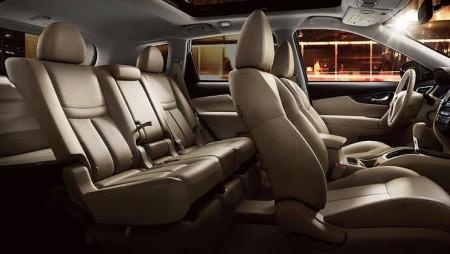 7座位Nissan Rogue的第二排座位同时会改为EZ-Flex设计。(商家提供)