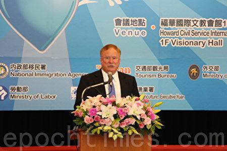 美国在台协会台北办事处副处长Robert W. Forden致词。(陈懿胜/大纪元)