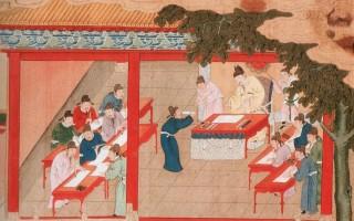 明代绘画中所描绘的殿试(公有领域)