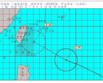 中央气象局7月6日下午2时30分,发布强烈台风尼伯特海上台风警报,台风将对巴士海峡及台湾东部海面构成威胁。(取自中央气象局网站 cwb.gov.tw)