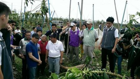 台风重创台东国军救灾 林揆勘灾区拨8亿台币