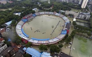 組圖:從空中看中國南方水災