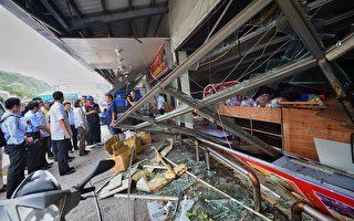 尼伯特颱風重創台東縣,總統蔡英文10日到綠島勘災。(台東縣政府提供)