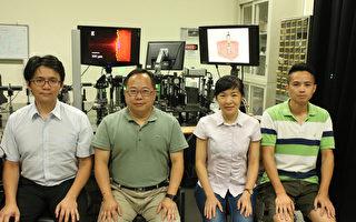 中央大學生醫光電研究團隊利用反向散射波,將混亂散射的生物組織轉化為反向虛擬物鏡並聚焦成像,創新技術有助於生醫影像研究。(中央大學提供)