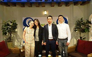 图为主持人曾宝仪(左起)、演员谢盈萱、黄健玮、陈培广在节目《公视艺文大道》合影。(公视提供)