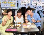 《遗憾拼图》主演杨贵媚、黄姵嘉及李易赴台南、台中扫街宣传。(TVBS提供)