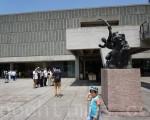 位于日本东京上野公园的西洋美术馆。(卢勇/大纪元)