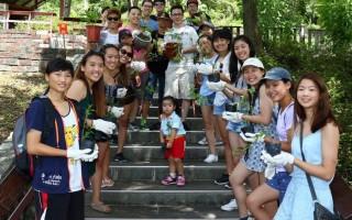 这群来自美国加州及密西根州的国际志工年纪大多只有十七、八岁,共有35人,于7月16日来到了红叶公园,看到成群的紫蝶飞舞都赞声连连。(西拉雅管理处提供)