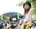 魏如昀紐約中央公園舉辦的Summer Stage NYC音樂節台灣之夜的演唱現場。(動靜音樂提供)