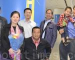 中国异见者赵常青妻儿被营救来美 抵旧金山