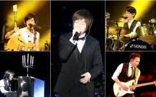 五月天重返露天舞台南港戶外開唱。(相信音樂/大紀元合成)