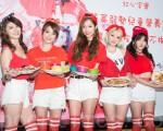 女团天气女孩7月28日在台北出席公益活动。(陈柏州/大纪元)