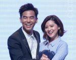 台視東森週六偶像劇《必勝練習生》Fashion Show於2016年7月29日在台北舉行媒體首映會。圖左起為柯有倫、林予晞。(黃宗茂/大紀元)