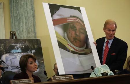 2014年11月参议院有关本田车子安全气囊问题的听证会。(Alex Wong/Getty Images)
