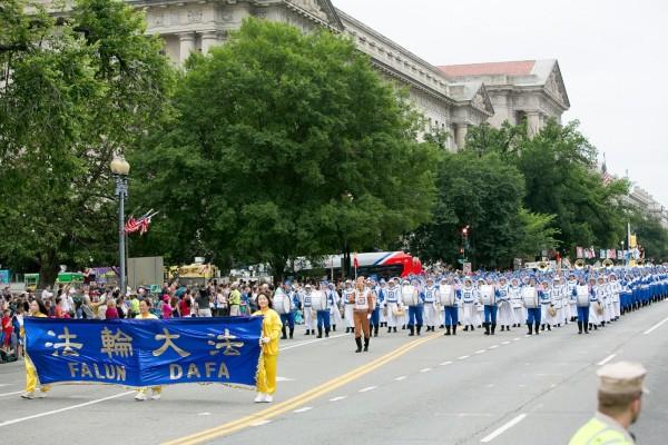 美国独立日游行  首都及周边城市欢迎法轮功