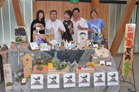 到新瓦屋除了看电影之外,还可以欣赏购买漂亮的艺术品。(新竹县政府提供)
