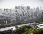 北市府要求遠雄,將大巨蛋園區的容留量降至9萬人以下,大巨蛋、商場和旅館等建物地面1樓需全部淨空。(陳柏州 /大紀元)