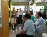 台化企业工会于本月14日、26日两度拜访县议员林世贤服务处。(郭益昌/大纪元)