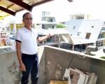 三星乡长黄锡墉预告斩新的三星绿建筑行政大楼即将落成。(三星乡公所提供)