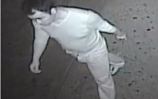 警方通缉的嫌犯照片。 (五分局提供)