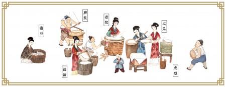 古人制作豆腐。(网络图片)
