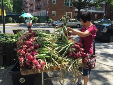 绿色市场上供应的新鲜果蔬。 (林丹/大纪元)