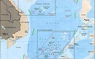 九段线是中共政府主张的各项男孩岛礁权益的依据,中华民国所主张的海域更大,有11段线。(维基百科公共领域)
