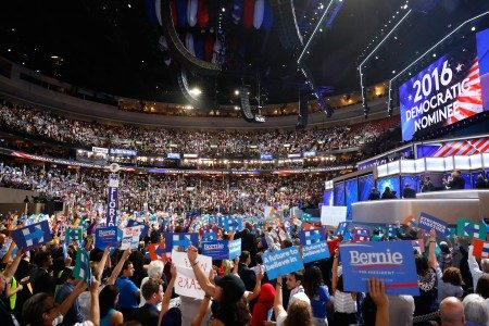 7月26日美国民主党全国代表大会现场(Aaron P. Bernstein/Getty Images)