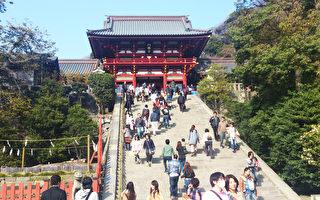 鎌倉鶴崗八幡宮神社。(盧勇/大紀元)