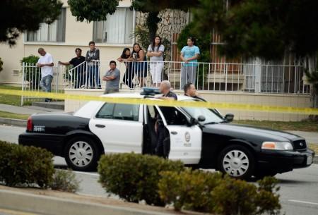 据洛杉矶市警局(LAPD)的最新报告,在经过超过十年的犯罪率下降后,洛杉矶市的整体犯罪率连续第二年出现上升。(Kevork Djansezian/Getty Images)