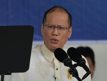 菲律賓前總統艾奎諾三世(Benigno Aquino III)發表聲明,說在國際法規更明確的情況下,南海爭端更接近於長遠解決。(TED ALJIBE/AFP/Getty Images)