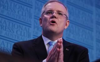 联邦财长莫里森(Scott Morrison)大力宣称澳洲的前景稳定。  (Stefan Postles/Getty Images)