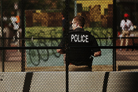 全代会期间,克利兰夫市区保安升级。(Spencer Platt/Getty Images)