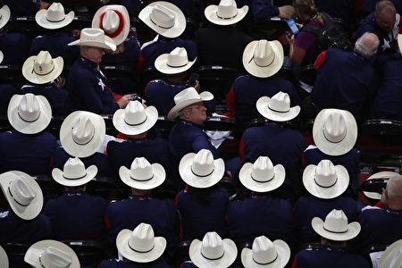 来自德州的党代表。 (Chip Somodevilla/Getty Images)