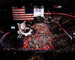 美国共和党全国代表大会7月18日在俄亥俄州克里夫兰市召开,本次大会的明星毫无疑问是川普。 (John Moore/Getty Images)