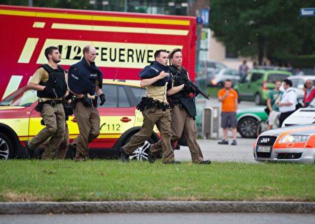 7月22日,慕尼黑购物中心传来枪声。(MATTHIAS BALK/AFP/Getty Images)