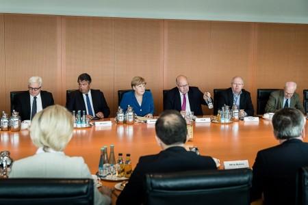 7月23日,默克尔召开安全委员会会议,讨论慕尼黑枪击案。(Jesco Denzel/Bundesregierung via Getty Images)