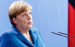 """默克尔16日回应川普(特朗普)说,""""欧洲人的命运掌握在我们自己手里""""。(Carsten Koall/Getty Images)"""