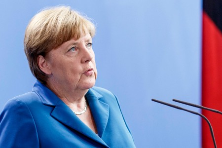 BERLIN, GERMANY - JULY 23: German Chancellor Angela Merkel gives a statement following the shootings in Munich on July 23, 2016 in Berlin, Germany. According to police, ten people were killed in a shooting the evening before at a shopping mall, including the gunmen and an unknown number injured in the north-western Moosach district in Munich. (Photo by Carsten Koall/Getty Images)