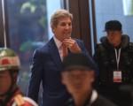 美国国务卿克里7月25日抵达老挝,参加东盟地区论坛和东亚峰会。   (HOANG DINH NAM/AFP/Getty Images)