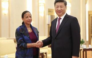隨著中美關係受到海牙裁決的考驗,美國國家安全顧問蘇珊•賴斯7月25日告訴中國領導人習近平,中國和美國應該坦率處理分歧。(HOW HWEE YOUNG/AFP/Getty Images)
