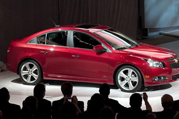 3月31日纽约国际汽车展上展出的雪佛莱科鲁兹RS新车型。(Steve Fecht/General Motors via Getty Images)