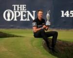在第145屆英國高爾夫球公開賽上,瑞典老將斯滕森生涯首次贏得大滿貫冠軍。 (Matthew Lewis/Getty Images)