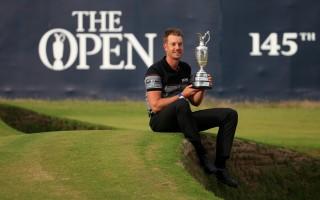 在第145届英国高尔夫球公开赛上,瑞典老将斯滕森生涯首次赢得大满贯冠军。 (Matthew Lewis/Getty Images)