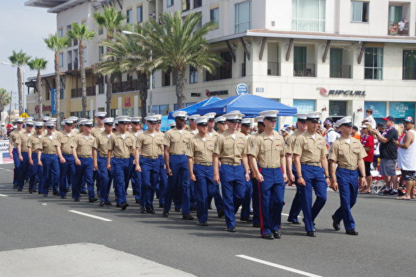 海军陆战队员。(刘菲/大纪元)